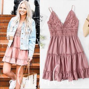 ADORABLE Crochet Mini Dress